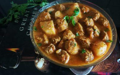 🌿 Soya Chunks Potato Curry