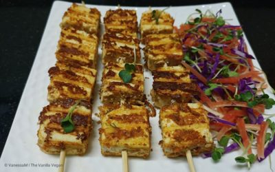 Tofu Tikka with salad